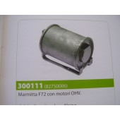 Marmitta MOTORE BRIGGS & STRATTON  F72 con motori OHV  Marmitta 13 HP 82750006