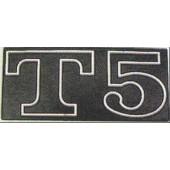 """TARGHETTA """"T5"""" PER COFANO LATERALE VESPA"""