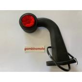 Luce d'ingombro a led con braccio ad angolo 45°, colore rosso e bianco 12-30V