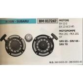 AVVIAMENTO COMPLETO BRUMAR ROBIN - SUBARU MOTORI EH 12-2 EX 13 (4.5 HP) MOTOPOMPE PKX 201 - PKX 201 ST SRV 65 - SRV 66 - SRV 70