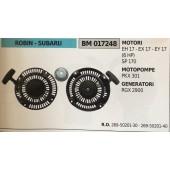 AVVIAMENTO COMPLETO BRUMAR ROBIN - SUBARU MOTORI EH 17 - EX 17 - EY 17 (6 HP) SP 170 MOTOPOMPE PKX 301 GENERATORI RGX 2900