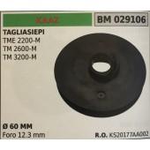 PULEGGIA AVVIAMENTO BRUMAR KAAZ TAGLIASIEPI TME 2200-M TM 2600-M TM 3200-M    Ø 60 MM foro 12.3 mm