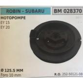 PULEGGIA AVVIAMENTO BRUMAR ROBIN - SUBARU MOTOPOMPE EY 15 EY 20    Ø 125.5 MM foro 10 mm