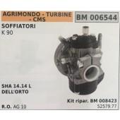 CARBURATORE A VASCHETTA BRUMAR AGRIMONDO - TURBINE - CMS SOFFIATORI K 90    SHA 14.14 L  DELL'ORTO Kit ripar. BM 008423