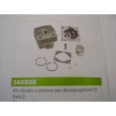 CILINDRO E PISTONE PER DECESPUGLIATORE 33 EURO2 TIPO CINESE  DIAMETRO 36MM