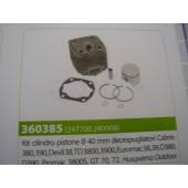 KIT CILINDRO PISTONE D.40 MM DECESPUGLIATORE CABRIO 380 - 390 - DEVIL 38 - TD 3800 - 3900 - EUROMAC 38 - 39 -D380 - D390 - PROMAC 3800S - GT 70 - 72