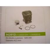 CILINDRO E PISTONE STIHL 250 DIAMETRO 42,5 MM