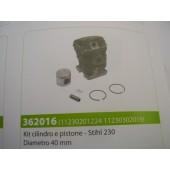 CILINDRO E PISTONE STIHL 230 DIAMETRO 40 MM