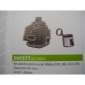 CILINDRO COMPLETO PER ALPINA 330-380-432-438 DIAMETRO 40MM