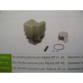 CILINDRO COMPLETO PER ALPINA 34cc DIAMETRO 36MM