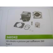 CILINDRO E PISTONE PER SOFFIATORE 260 EURO1 TIPO CINESE  DIAMETRO 34MM