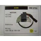 BOBINA ACCENSIONE MOTORI ACME ACT280 - ACT340 RIF.ORIG 106-138