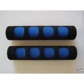 coprileve bicolore in spugna blu nero