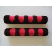 coprileve bicolore in spugna rosso nero