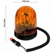 Lampeggiante girofaro base magnetica 12V, lampadina inclusa
