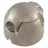Presa 7 poli 12V in alluminio ISO 1724 tipo N con contatti a serrafilo