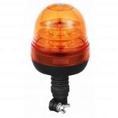 Lampeggiante Girofaro LED 12-24V a base fliessibile a imbuto. 16 Led a 3W, IP66, tre molalità lumimose selezionabili : rotazione, flash singolo, flash veloce; temperatura d'esercizio -30°C a 60°C. Certificazioni: R10, CE, EMC, ECE R65