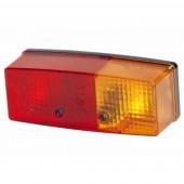 Fanale posteriore alogeno 12-24V dx 158x64x51mm, 3 funzioni, lampadine non incluse