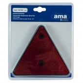 Catarifrangente triangolare rosso con fori