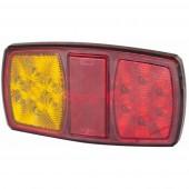 Fanale posteriore led sx 12V 2,5W, Luce di direzione, posizione, stop e retroriflettente, cavo 0,35m, lente in PC